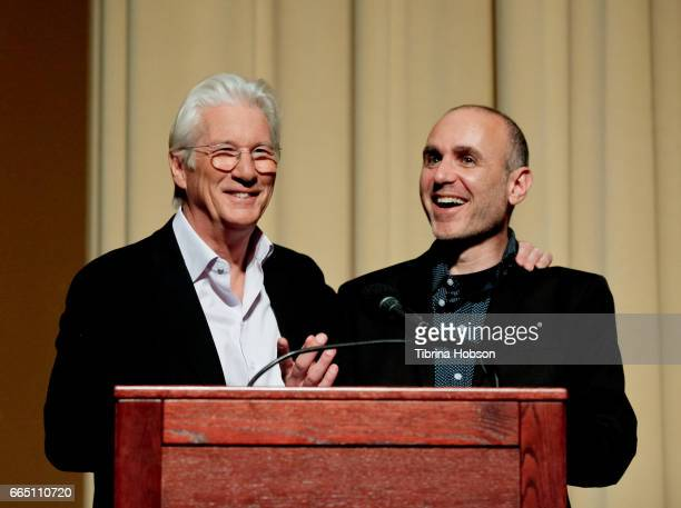 Richard Gere and Joseph Cedar attend the premiere and prereception for Sony Pictures Classics' 'Norman' at Linwood Dunn Theater at the Pickford...