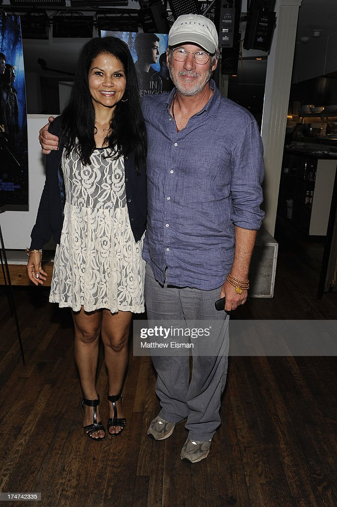 <a gi-track='captionPersonalityLinkClicked' href=/galleries/search?phrase=Richard+Gere&family=editorial&specificpeople=202110 ng-click='$event.stopPropagation()'>Richard Gere</a> (R) and Juliette Fairley attend 'Percy Jackson: Sea Of Monsters' Hamptons Premiere afterparty at 75 Main Street on July 28, 2013 in Southampton, New York.