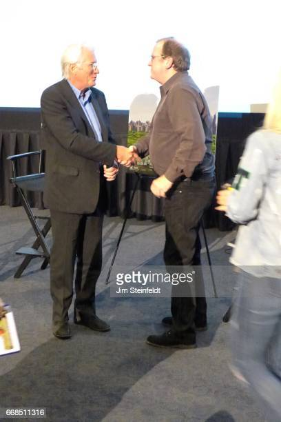 Richard Gere and Pete Hammond at the screening of the film Norman at the ArcLight cinemas in Sherman Oaks California on April 4 2017