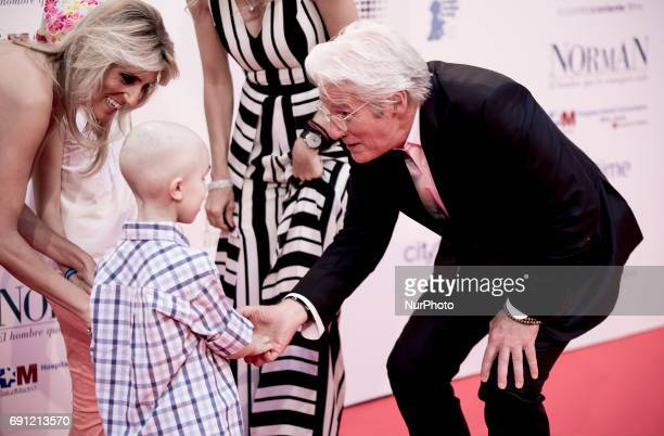 Richard Gere attend the 'Norman The Moderate Rise and Tragic Fall of a New York Fixer' premiere at the Callao cinema on May 31 2017 in Madrid Spain