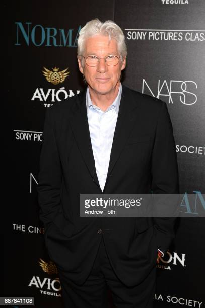 Richard Gere attends a screening of Sony Pictures Classics' 'Norman' hosted by The Cinema Society with NARS AVION at the Whitby Hotel on April 12...