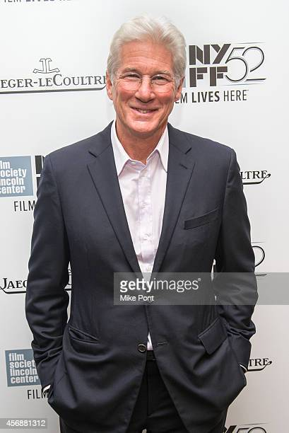 Richard Gere attends An Evening with Richard Gere during the 52nd New York Film Festival at Stanley H Kaplan Penthouse at Lincoln Center on October 8...