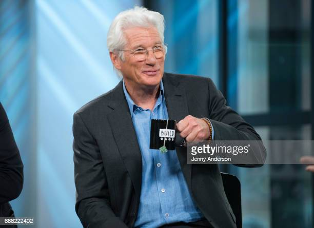 Richard Gere attends AOL Build series to discuss his new movie 'Norman The Moderate Rise And Tragic Fall Of A New York Fixer' at Build Studio on...