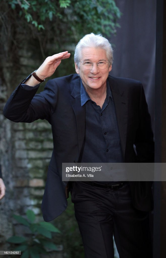 <a gi-track='captionPersonalityLinkClicked' href=/galleries/search?phrase=Richard+Gere&family=editorial&specificpeople=202110 ng-click='$event.stopPropagation()'>Richard Gere</a> attends 'Arbitrage' photocall at Hotel de Russie on February 19, 2013 in Rome, Italy.