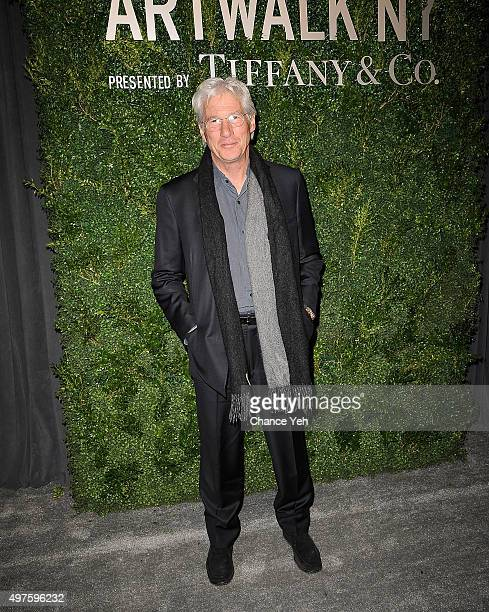 Richard Gere attends Artwalk NY 2015 at Metropolitan Pavilion on November 17 2015 in New York City