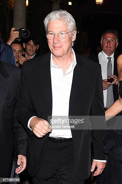 Richard Gere attends Day 5 of the 61st Taormina Film Fest on June 17 2015 in Taormina Italy