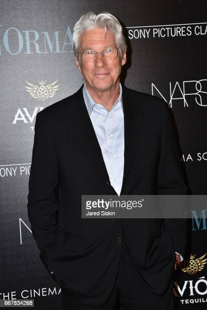 Richard Gere attends The Cinema Society with NARS AVION host a screening of Sony Pictures Classics' 'Norman' on April 12 2017 in New York City