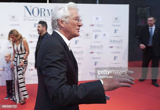 Richard Gere attends the 'Norman The Moderate Rise and Tragic Fall of a New York Fixer' premiere at the Callao cinema on May 31 2017 in Madrid Spain