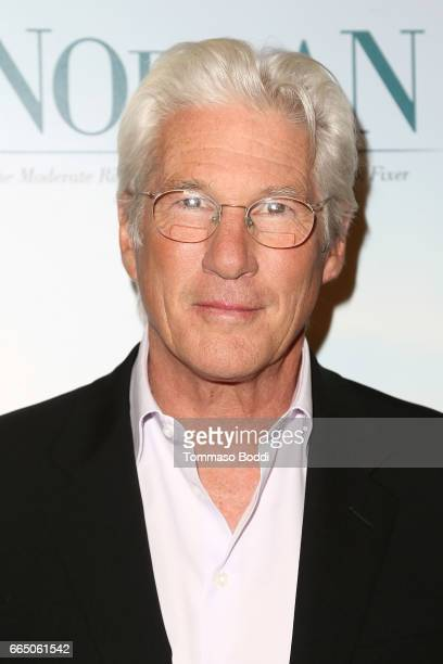Richard Gere attends the Premiere Of Sony Pictures Classics' 'Norman' at Linwood Dunn Theater at the Pickford Center for Motion Study on April 5 2017...