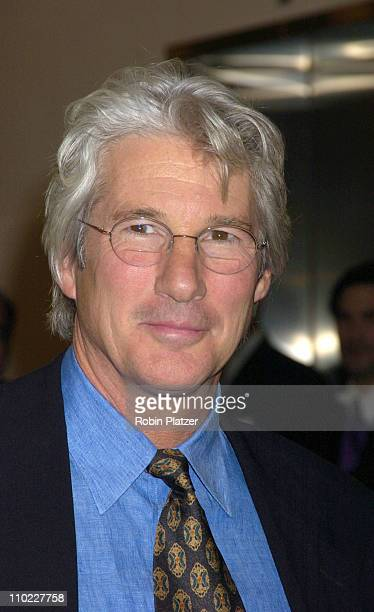 Richard Gere during amfAR and ACRIA Honor Herb Ritts with a Sale of Contemporary Artwork Arrivals at Sothebys in New York New York United States