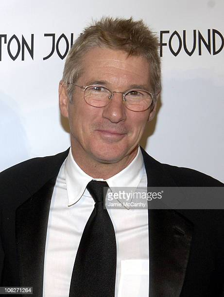 Richard Gere during 'An Enduring Vision' A Benefit for the Elton John AIDS Foundation at Cipriani Wall Street in New York City New York United States
