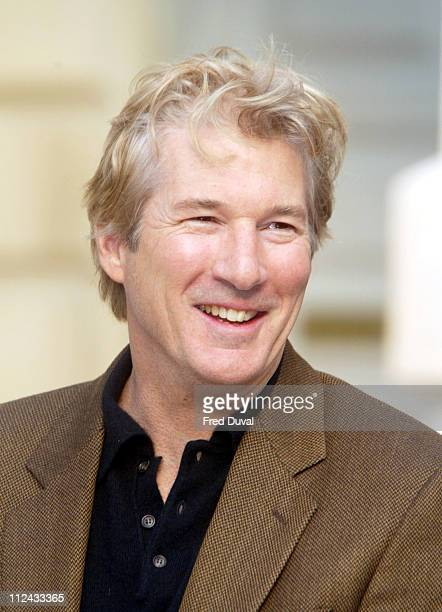 Richard Gere during Photocall For The Exhibition 'Giorgio Armani A Retrospective' at Royal Academy of Arts in London Great Britain