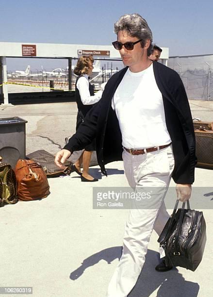 Richard Gere during Richard Gere Sighting at Los Angeles International Airport July 31 1990 at Los Angeles International Airport in Los Angeles...