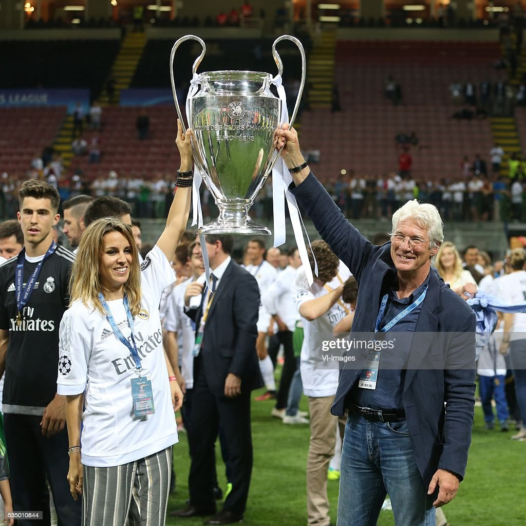 richard gere during the UEFA Champions League final match between Real Madrid and Atletico Madrid on May 28, 2016 at the Giuseppe Meazza San Siro stadium in Milan, Italy.