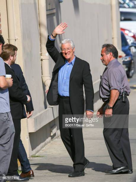 Richard Gere is seen at 'Jimmy Kimmel Live' on April 11 2017 in Los Angeles California