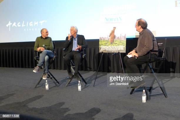 Richard Gere Pete Hammond and director Jospeh Cedar at the screening of the film Norman at the ArcLight cinemas in Sherman Oaks California on April 4...