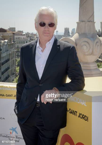 Richard Gere poses during a photocall for his latest film 'Norman The Moderate Rise and Tragic Fall of a New York Fixer' at the Hotel Casa Fuster on...
