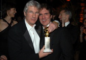Richard Gere Rob Marshall during Miramax 2003 Golden Globes Party Sponsored by Glamour Magazine and Coors at Trader Vic's in Beverly Hills CA United...