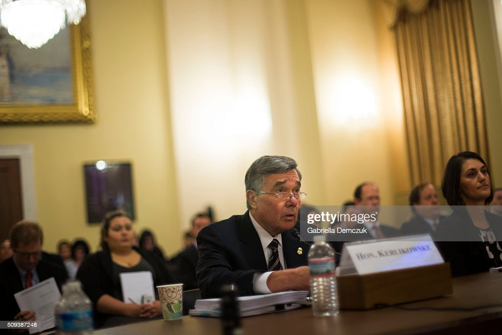 Richard Gil Kerlikowske, commissioner of U.S. Customs and Border Protection testifies before the House Homeland Security Committee on 'National Security and Law Enforcement: Breaking the New Visa Waiver Law to Appease Iran' on Capitol Hill on February 10, 2016 in Washington, D.C. Questions have been raised over the misuse of visa waivers, exempting some individuals from the Visa Waiver Program Improvement and Terrorist Travel Prevention Act that was passed into law last year.