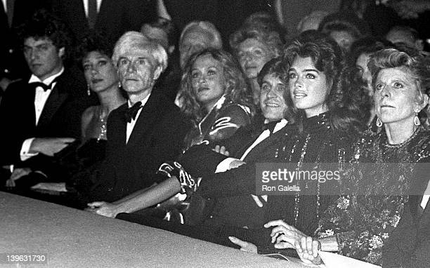 Richard Golub Marisa Berensen Andy Warhol Lauren Hutton Mikhail Baryshnikov Brooke Shields and Pat Lawford attend Valentino Fashion Show on September...
