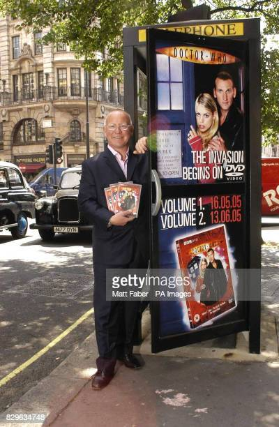 Richard Green MD of 2Entertain stands alongside one of the 450 London telephone booths that have been transformed to look like Dr Who's Tardis to...