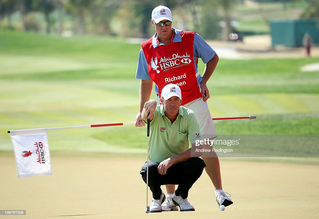 Richard Green of Australia in action during the final round of The Abu Dhabi HSBC Golf Championship at Abu Dhabi Golf Club on January 20, 2013 in Abu Dhabi, United Arab Emirates.