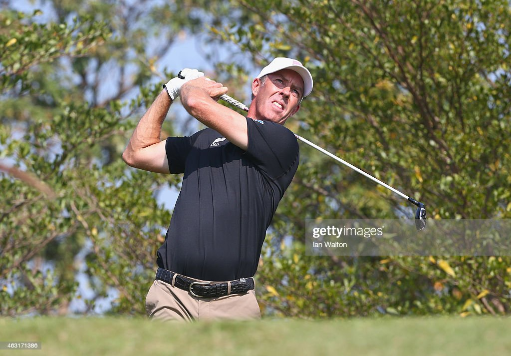 Richard Green of Australia in action during the proam of the 2015 True Thailand Classic at Black Mountain Golf Club on February 11 2015 in Hua Hin...