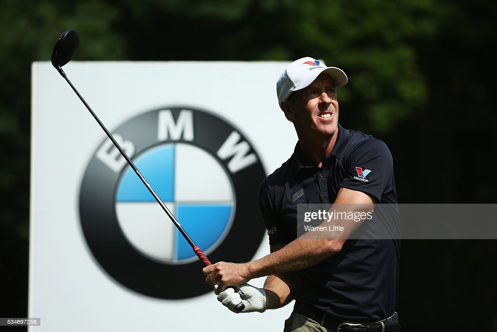 <a gi-track='captionPersonalityLinkClicked' href=/galleries/search?phrase=Richard+Green&family=editorial&specificpeople=210649 ng-click='$event.stopPropagation()'>Richard Green</a> of Australia tees off during day two of the BMW PGA Championship at Wentworth on May 27, 2016 in Virginia Water, England.