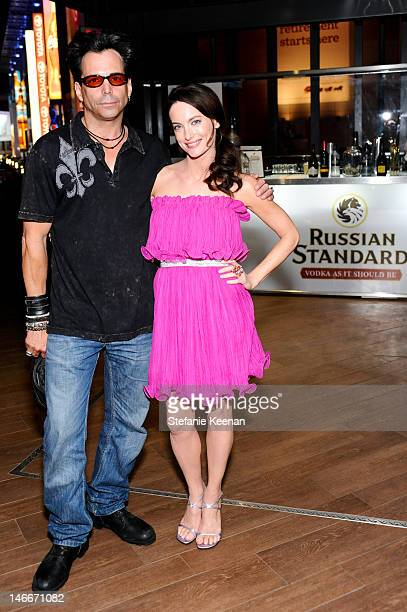 Richard Greico and Alex Lombard attend Russian Standard Vodka Presents The 'Celeste Jesse Forever' LA Film Festival Premiere After Party at FigOly...