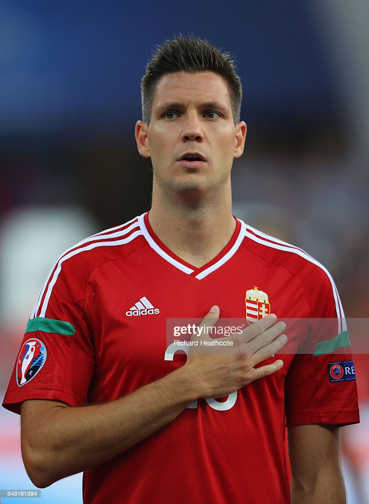 Richard Guzmics of Hungary is seen prior to the UEFA EURO 2016 round of 16 match bewtween Hungary and Belgium at Stadium Municipal on June 26, 2016 in Toulouse, France.