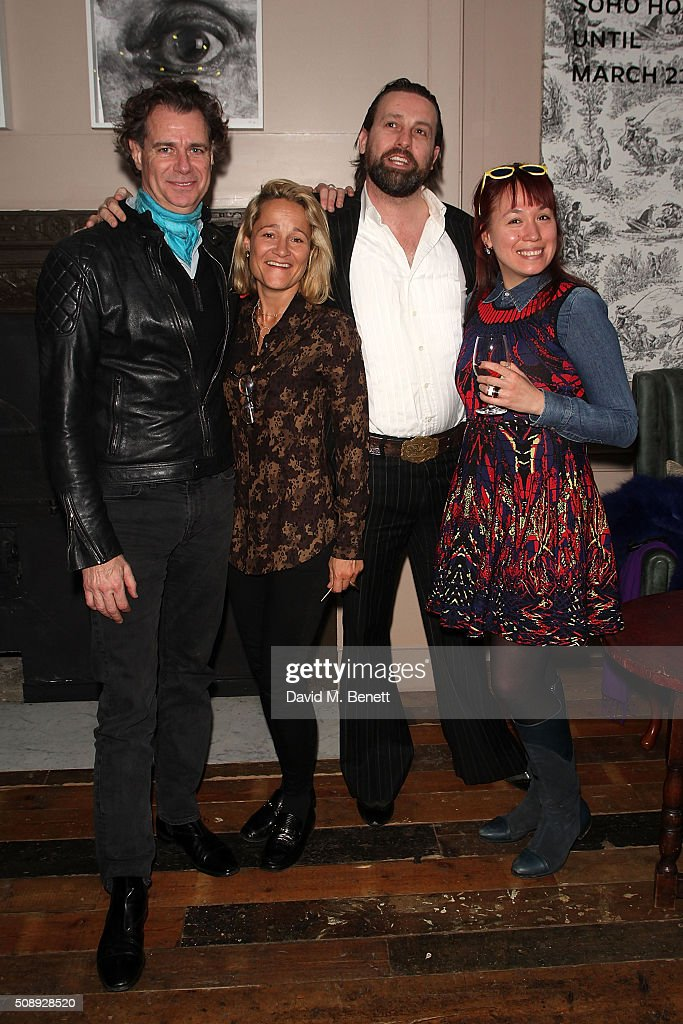 Richard Haines, Tara Agace, Patrick Brendan O'Neill and Alison Yeung attends a special screening of 'The Uncountable Laughter of The Sea' at Soho House Dean Street on February 7, 2016 in London, England.