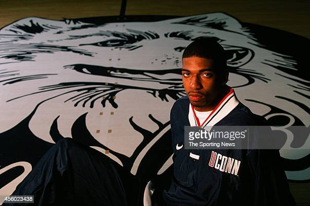 Richard Hamilton of the Connecticut Huskies poses for a photo on April 27 1997