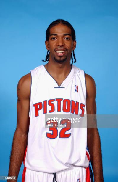 Richard Hamilton of the Detroit Pistons poses for a portrait during Media Day on September 30 2002 at the Palace of Auburn Hills in Auburn Hills...