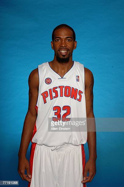 Richard Hamilton of the Detroit Pistons poses for a portrait during NBA Media Day at the Pistons Practice Facility on October 1 2007 in Auburn Hills...