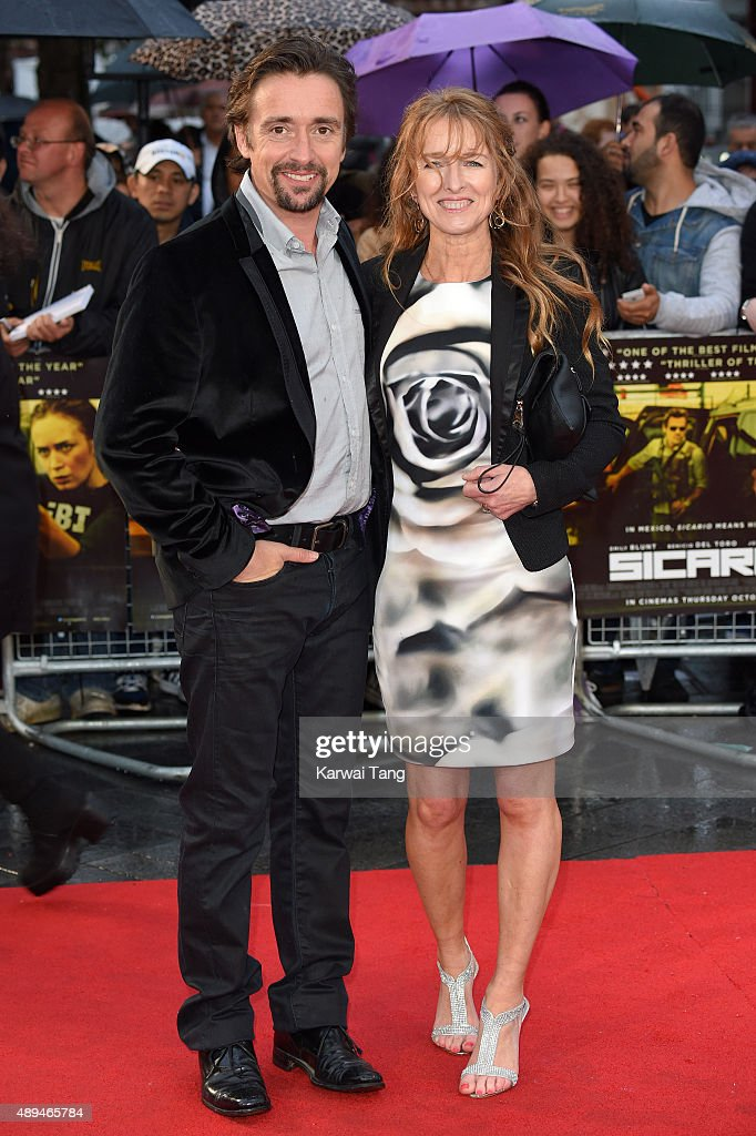 <a gi-track='captionPersonalityLinkClicked' href=/galleries/search?phrase=Richard+Hammond&family=editorial&specificpeople=2540628 ng-click='$event.stopPropagation()'>Richard Hammond</a> and Amanda Etheridge attend the UK Premiere of 'Sicario' at Empire Leicester Square on September 21, 2015 in London, England.