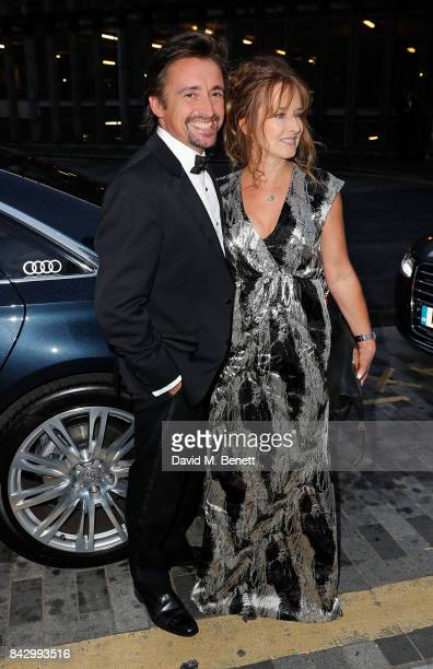 Richard Hammond and Mindy Hammond arrive in an Audi at the GQ Men of the Year Awards at Tate Modern on September 5 2017 in London England