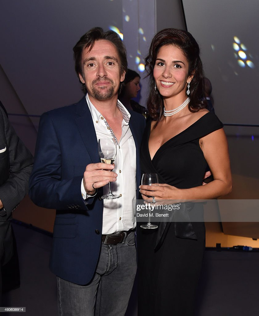 Richard Hammond (L) and Sara Fazlali attend The Secret Me Charity Gala in support of Save The Rhino at The Imperial War Museum on October 21, 2015 in London, England.