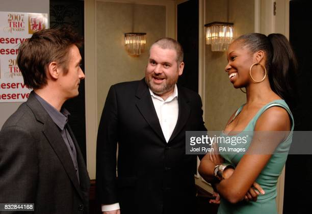 Richard Hammond Chris Moyles and Jamelia at the TRIC 2007 Annual Awards at the Grosvenor House Hotel in central London