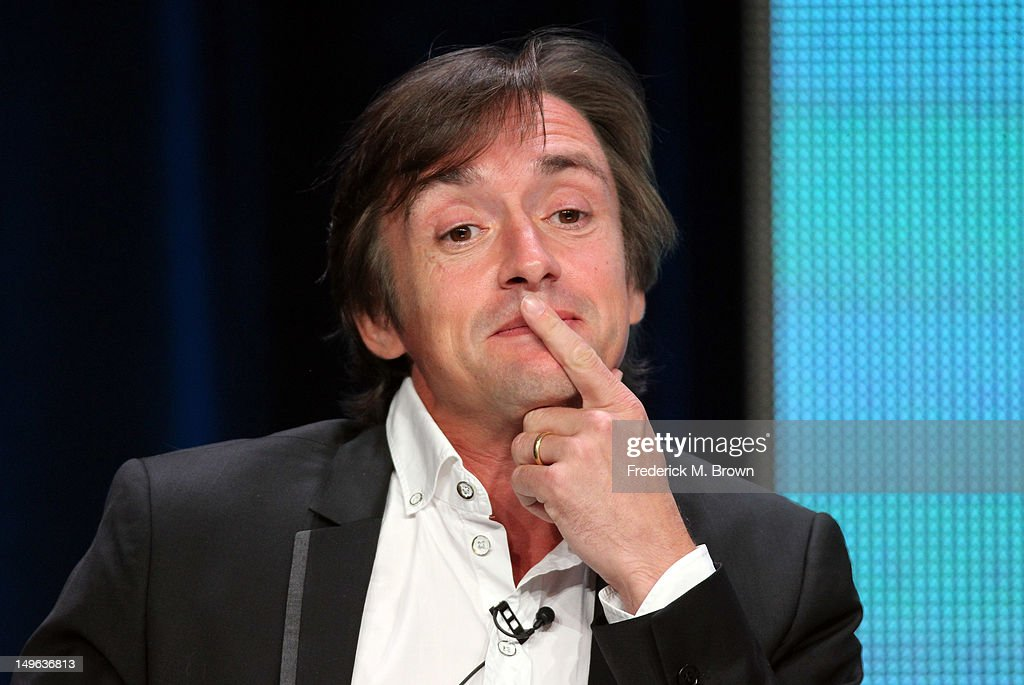 <a gi-track='captionPersonalityLinkClicked' href=/galleries/search?phrase=Richard+Hammond&family=editorial&specificpeople=2540628 ng-click='$event.stopPropagation()'>Richard Hammond</a> speaks at the '<a gi-track='captionPersonalityLinkClicked' href=/galleries/search?phrase=Richard+Hammond&family=editorial&specificpeople=2540628 ng-click='$event.stopPropagation()'>Richard Hammond</a>'s Crash course' discussion panel during the BBC America portion of the 2012 Summer Television Critics Association tour at the Beverly Hilton Hotel on August 1, 2012 in Los Angeles, California.