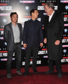 Richard Hammond Tom Cruise and Jeremy Clarkson arrives at the Mission Impossible Ghost Protocol UK Premiere at BFI IMAX on December 13 2011 in London...