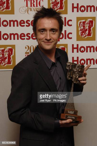 Richard Hammond with the award for Satellite/Digital Tv Personality at the TRIC 2007 Annual Awards at the Grosvenor House Hotel in central London