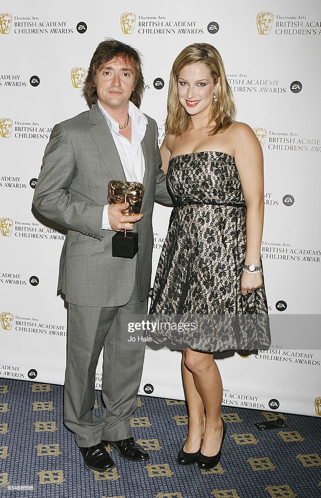 Richard Hammond with the Iconic Mask Award and Gemma Bissix poses in the press room at the 'EA British Academy Children's Awards 2009' at The London Hilton on November 29, 2009 in London, England.