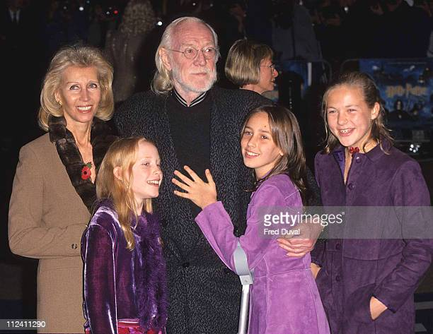 Richard Harris and family during Richard Harris and Family Attend the Harry Potter Premiere in 2001 at Empire Leicester Square in London Great Britain