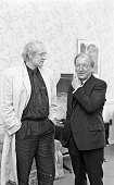 Richard Harris pays a courtesy visit to An Taoiseach Charles Haughey in Governmant Buildings in Dublin