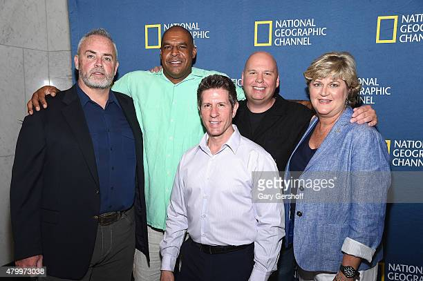 Richard Hatch John Keller Donato Dalrymple Andy Grignon and Sherron Watkins attend 'The 2000s A New Reality' New York Screening at The Paley Center...