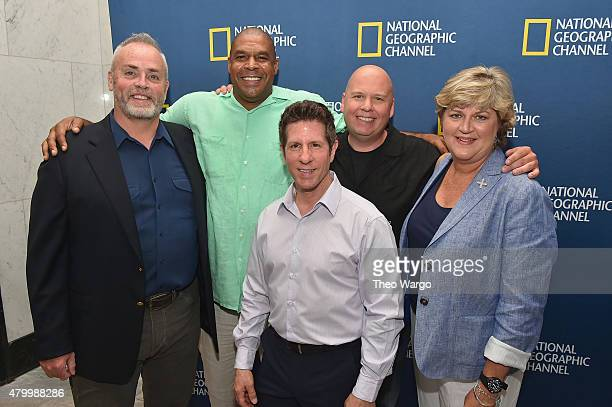 Richard Hatch John Keller Donato Dalrymple Andy Gringon and Sherron Watkins attend 'The 2000s A New Reality' New York Screening at The Paley Center...