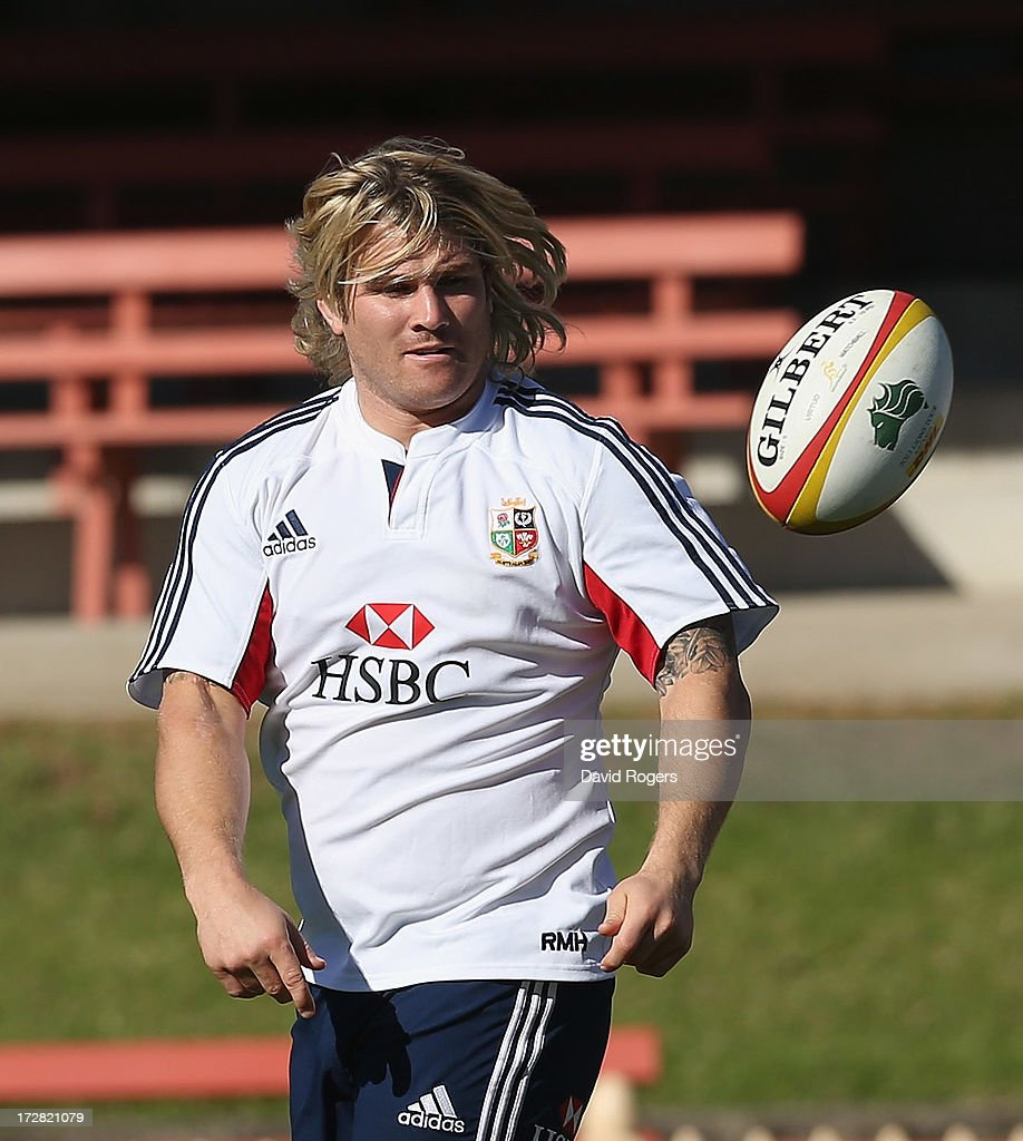 <a gi-track='captionPersonalityLinkClicked' href=/galleries/search?phrase=Richard+Hibbard&family=editorial&specificpeople=4313527 ng-click='$event.stopPropagation()'>Richard Hibbard</a> passes the ball during the British and Irish Lions Captain's Run at North Sydney Oval on July 5, 2013 in Sydney, Australia.