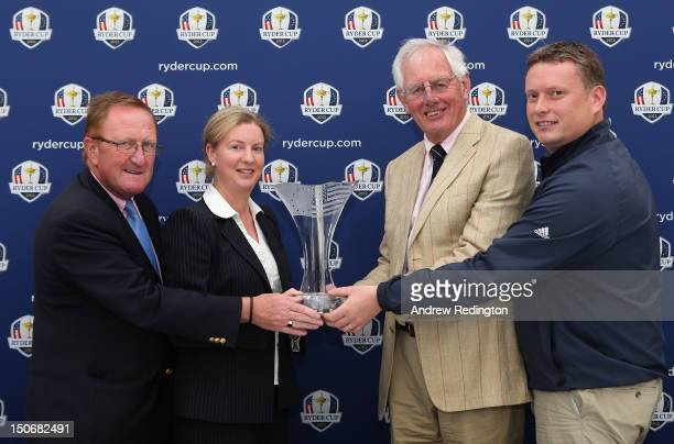 Richard Hills European Ryder Cup Director Shona Robison MSP Scotland's Minister for Commonwealth Games and Sport Allan McKay Blairgowrie Golf Club...