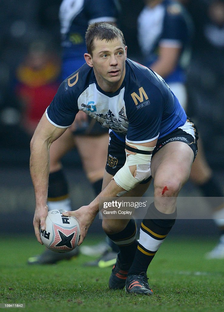 Richard Horne of Hull FC during a pre-season friendly match between Hull FC and Castleford Tigers at The KC Stadium on January 13, 2013 in Hull, England.