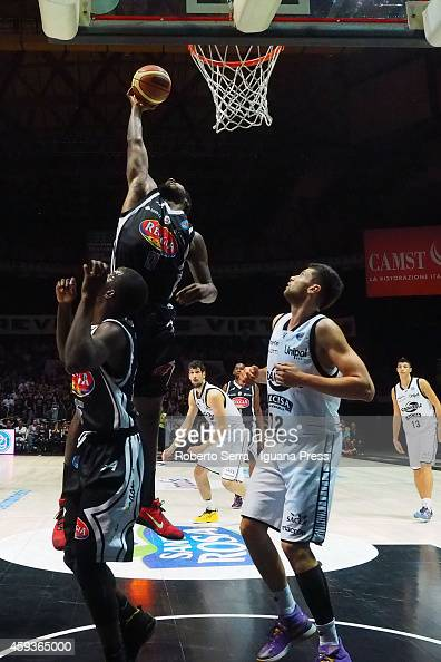 Richard Howell of Pasta Reggia competes with Matteo Imbrol of Granarolo during the LegaBasket Serie A1 basketball match between Granarolo Bologna and...